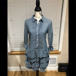 J crew chambray dress Perfect condition size 4 p